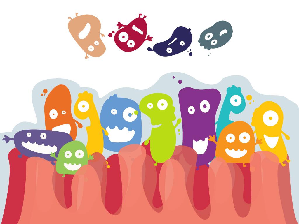 Resultado de imagem para bacteria desenho