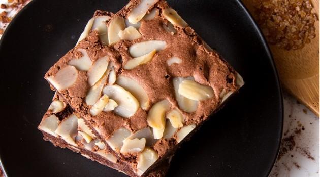açúcar de coco - brownie de castanhas