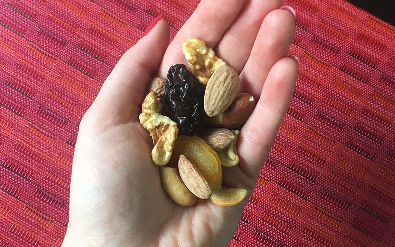 snacks saudáveis - mix de oleaginosas