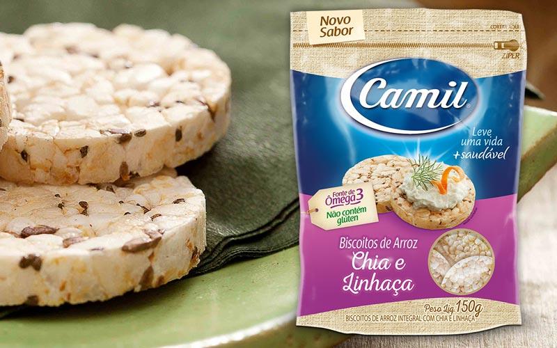 snacks saudáveis - biscoito de arroz integral camil